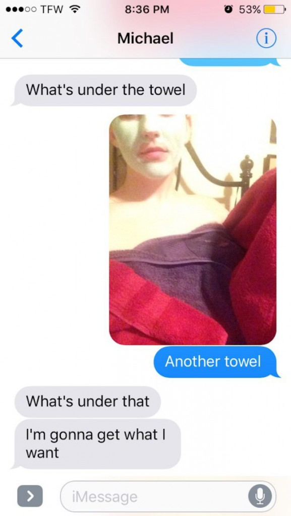 A guy on OKCupid asked a girl for nudes, so she trolled