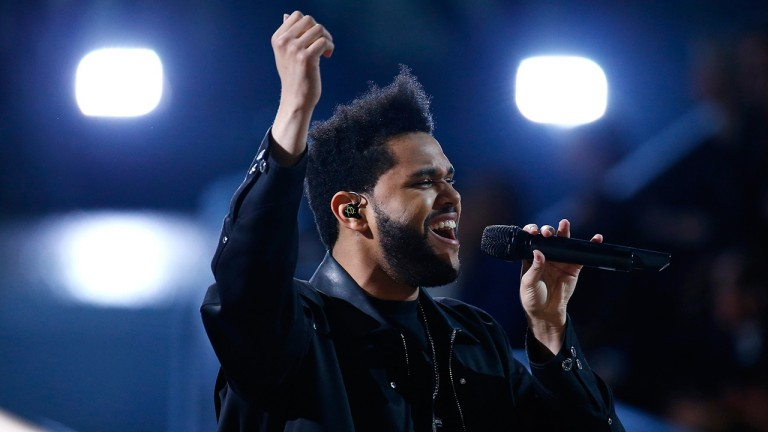 The Weeknd performs during the 2016 Victoria's Secret Fashion Show at the Grand Palais in Paris, France, 30 November 2016. (EPA/IAN LANGSDON)