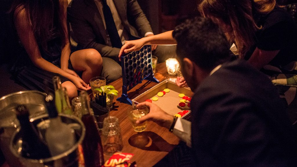 The Addisons on King Street offers a house party style atmosphere for party goers. The club also offers a variety of board games likes Jenga and chess for those more inclined for a sit down activity. (Brian B. Bettencourt/Toronto Star via Getty Images)
