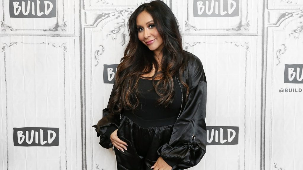 """NEW YORK, NY - OCTOBER 22: Nicole """"Snooki"""" Polizzi visits Build Studio to discuss the TV show """"How Far Is Tattoo Far?"""" on October 22, 2018 in New York City."""