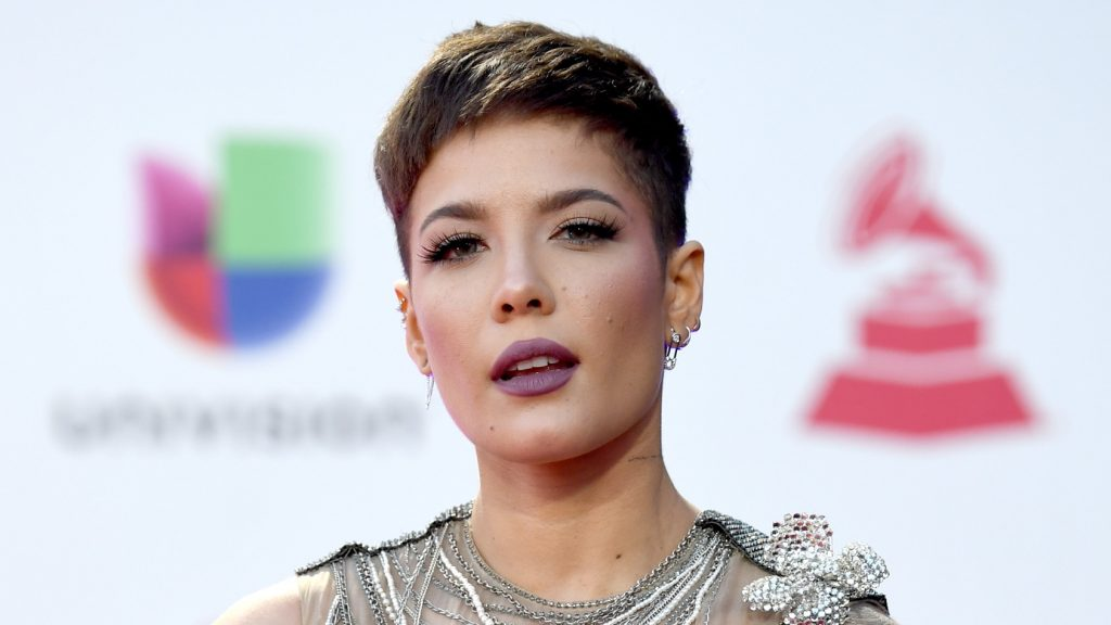 LAS VEGAS, NV - NOVEMBER 15: Halsey attends the 19th annual Latin GRAMMY Awards at MGM Grand Garden Arena on November 15, 2018 in Las Vegas, Nevada. (Photo by Denise Truscello/Getty Images for LARAS)