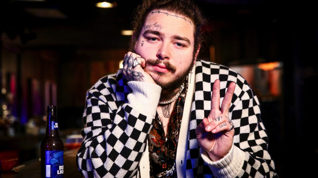 LOS ANGELES, CA - MARCH 20: Post Malone behind the scenes before his Bud Light Dive Bar Tour show in Nashville at Footsies Dive Bar on March 20, 2018 in Los Angeles, California.