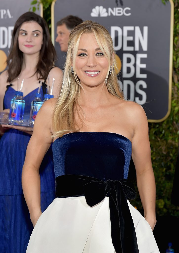 LOS ANGELES, CA - JANUARY 06: Kaley Cuoco attends FIJI Water at the 76th Annual Golden Globe Awards on January 6, 2019 at the Beverly Hilton in Los Angeles, California. (Photo by Stefanie Keenan/Getty Images for FIJI Water)