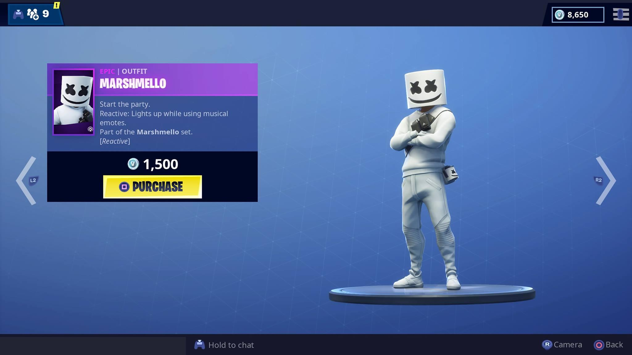 Marshmello Skin Is Now Available For Fortnite Video Game