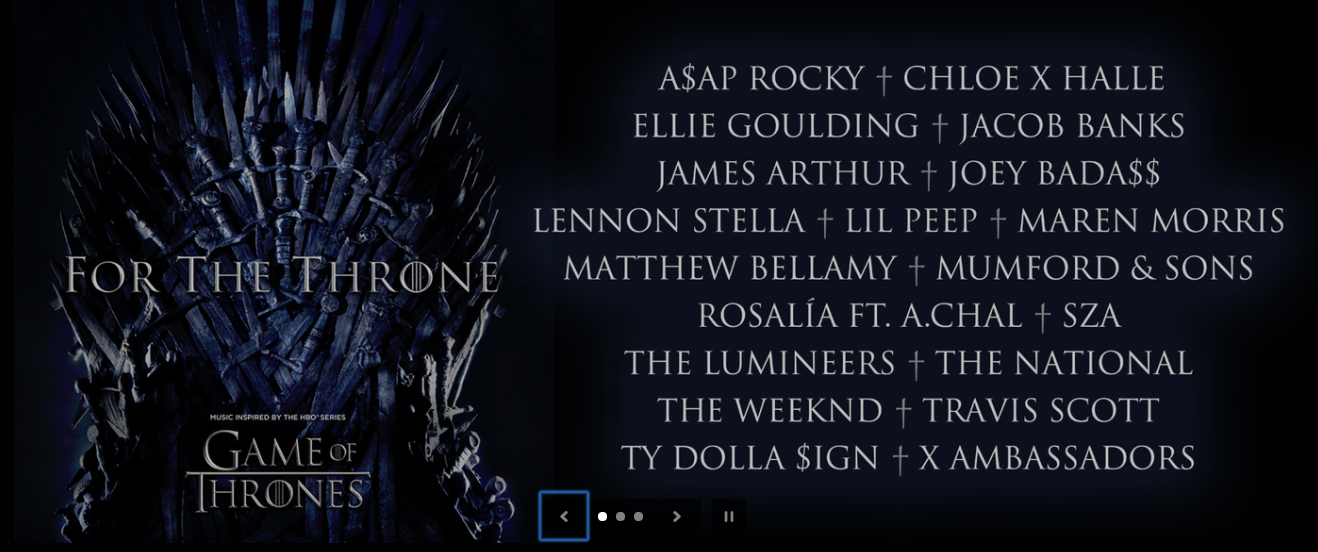 2584f3fb56c1 The Games of Thrones season 8 soundtrack has been announced