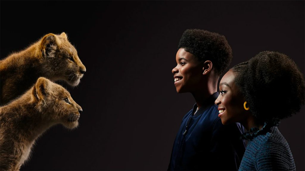 JD McCrary and Shahadi Wright Joseph as young Simba and Nala (Photo by: Disney)